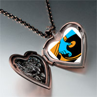 Necklace & Pendants - music disc playing photo heart locket pendant necklace Image.