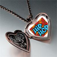 Necklace & Pendants - music hip hop photo heart locket pendant necklace Image.