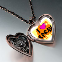 Necklace & Pendants - music love spray photo heart locket pendant necklace Image.