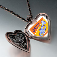Necklace & Pendants - music jazz instrument photo heart locket pendant necklace Image.