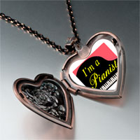 Necklace & Pendants - music am pianist photo heart locket pendant necklace Image.