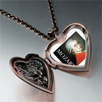 Necklace & Pendants - music mozart photo heart locket pendant necklace Image.