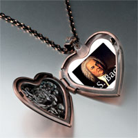 Necklace & Pendants - music j bach photo heart locket pendant necklace Image.