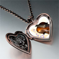 Necklace & Pendants - music violoncello photo heart locket pendant necklace Image.