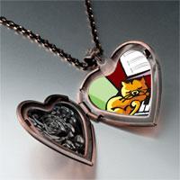 Necklace & Pendants - music piano cat photo heart locket pendant necklace Image.