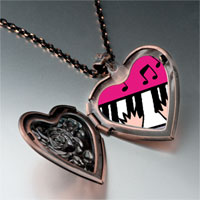 Necklace & Pendants - music piano playing photo heart locket pendant necklace Image.