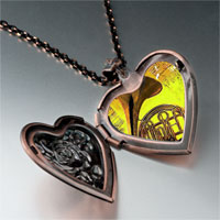 Necklace & Pendants - music romantic saxophone photo heart locket pendant necklace Image.