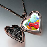 Necklace & Pendants - music idyllic violoncello photo heart locket pendant necklace Image.