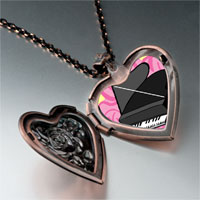 Necklace & Pendants - music noble piano photo heart locket pendant necklace Image.