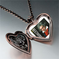 Necklace & Pendants - music beethoven photo heart locket pendant necklace Image.
