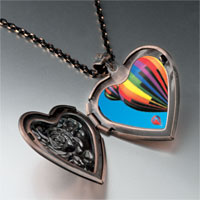 Necklace & Pendants - hot air balloons heart locket pendant necklace Image.
