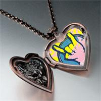 Necklace & Pendants - music love photo heart locket pendant necklace Image.