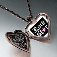 Necklace & Pendants - music rock star photo heart locket pendant necklace Image.