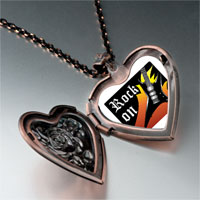 Necklace & Pendants - music theme rock on photo heart locket pendant necklace Image.