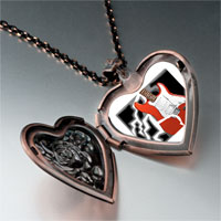 Necklace & Pendants - music theme powerful electric guitar photo heart locket pendant necklace Image.