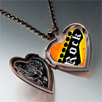 Necklace & Pendants - music theme rock photo heart locket pendant necklace Image.