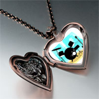 Necklace & Pendants - music theme stunning instrument photo heart locket pendant necklace Image.