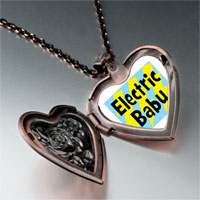 Necklace & Pendants - music theme electric baby photo heart locket pendant necklace Image.