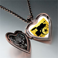 Necklace & Pendants - music theme band instrument photo heart locket pendant necklace Image.