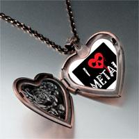 Necklace & Pendants - music theme love metal photo heart locket pendant necklace Image.