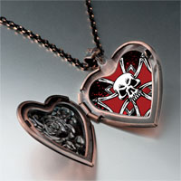 Necklace & Pendants - music theme metal halloween skull photo heart locket pendant necklace Image.