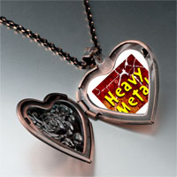 Necklace & Pendants - music theme heavy metal photo heart locket pendant necklace Image.