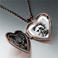 Necklace & Pendants - music theme horror halloween skull man photo heart locket pendant necklace Image.