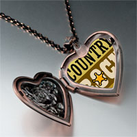 Necklace & Pendants - music theme idyllic country rock photo heart locket pendant necklace Image.