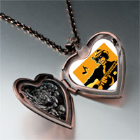 Necklace & Pendants - music theme country singer photo heart locket pendant necklace Image.