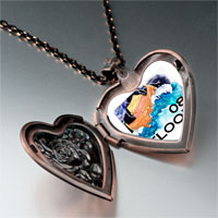 Necklace & Pendants - nature 2008  flood photo heart locket pendant necklace Image.