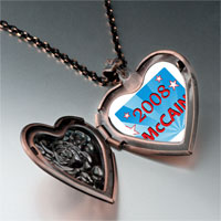 Items from KS - usa patriotic 2008  mccain photo heart locket pendant necklace Image.