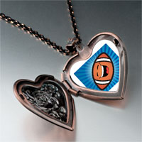 Items from KS - sports football photo heart locket pendant necklace Image.