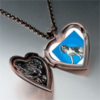 Necklace & Pendants - animal theme dog photo heart locket pendant necklace Image.