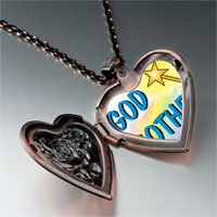 Items from KS - christian theme god mother photo heart locket pendant necklace Image.