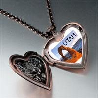 Necklace & Pendants - travel &  culture utah photo heart locket pendant necklace Image.