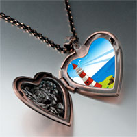 Necklace & Pendants - travel &  culture lighthouse photo heart locket pendant necklace Image.