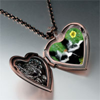 Necklace & Pendants - wildlife skunk photo heart locket pendant necklace Image.
