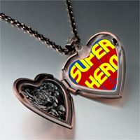 Necklace & Pendants - famous people superhero photo heart locket pendant necklace Image.