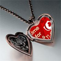 Necklace & Pendants - food loving wine photo heart locket pendant necklace Image.