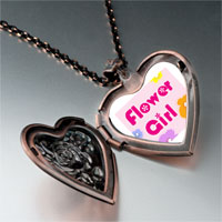Necklace & Pendants - character flower girl photo heart locket pendant necklace Image.
