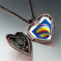 Necklace & Pendants - travel hot air balloon photo heart locket pendant necklace Image.