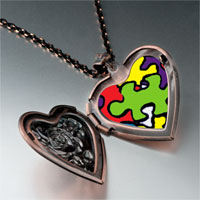 Necklace & Pendants - word autism photo heart locket pendant necklace Image.