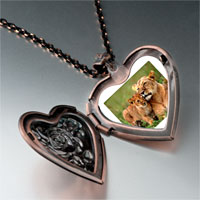 Necklace & Pendants - animal cub photo heart locket pendant necklace Image.