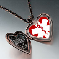 Necklace & Pendants - sign medical alert photo heart locket pendant necklace Image.