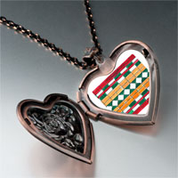 Necklace & Pendants - artwork exotic tile photo heart locket pendant necklace Image.