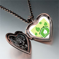 Necklace & Pendants - sign sprout photo heart locket pendant necklace Image.
