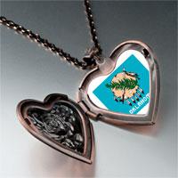 Necklace & Pendants - travel oklahoma photo heart locket pendant necklace Image.