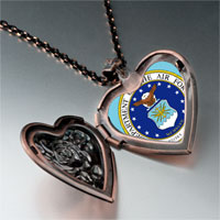 Necklace & Pendants - phrase seal air force photo heart locket pendant necklace Image.