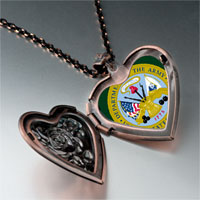 Necklace & Pendants - phrase army seal photo heart locket pendant necklace Image.