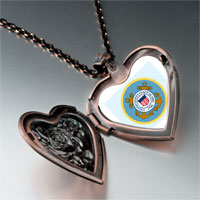 Necklace & Pendants - character coast guard photo heart locket pendant necklace Image.